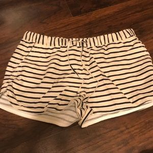 Jcrew Navy and cream stripped shorts